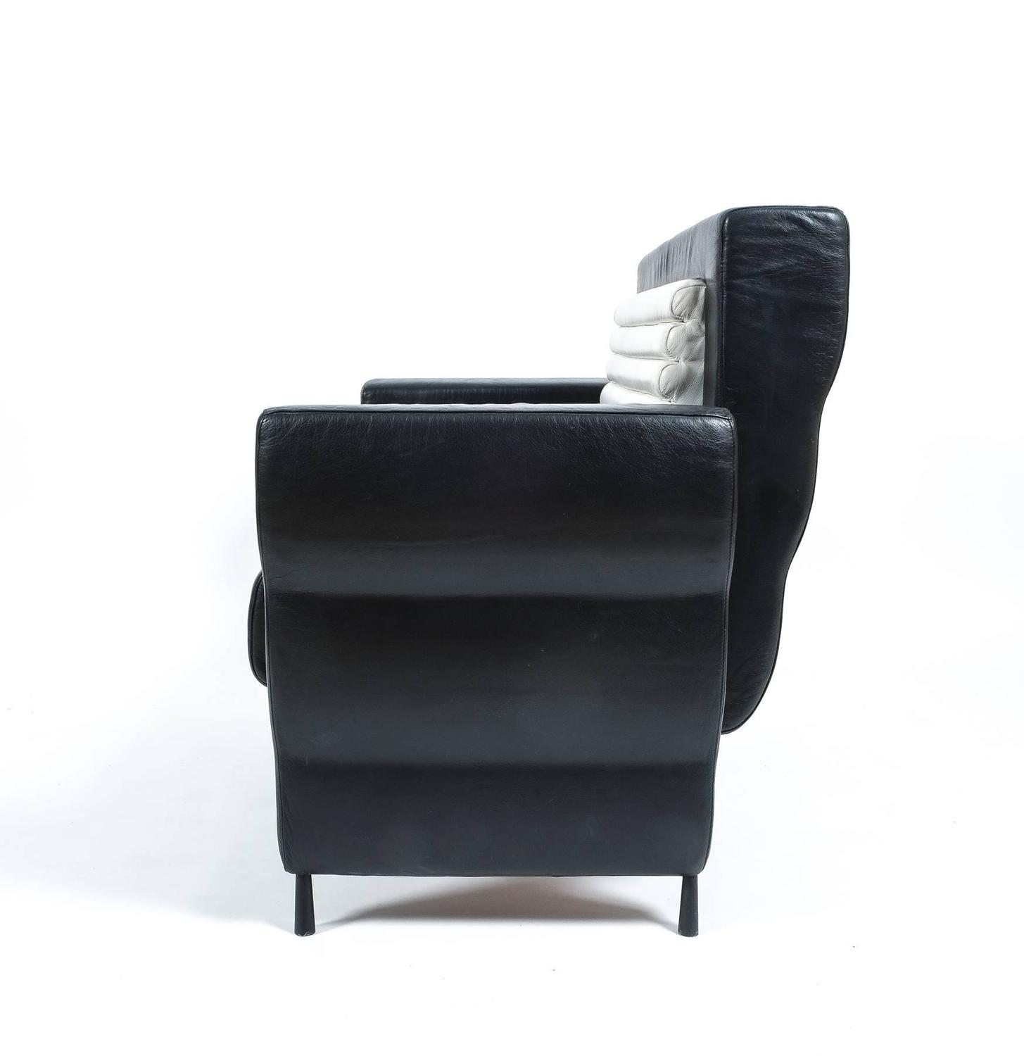 black and white leather sofas for sale sectional sofa by ugo la pietra 1985