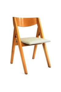 Folding Child Chair in Wood with Seat in New White or ...