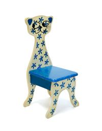 Cat Chair, Vintage, Painted Wood Composite For Sale at 1stdibs