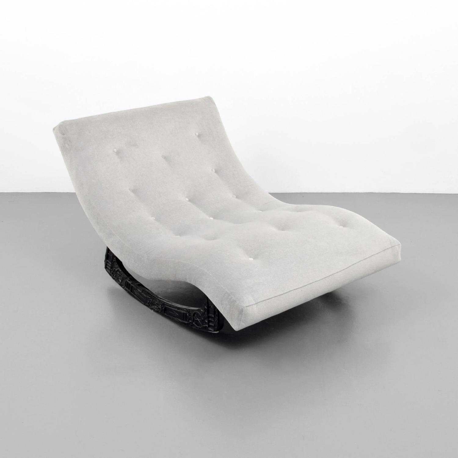 adrian pearsall rocking chair crushed velvet cushions brutalist lounge chaise