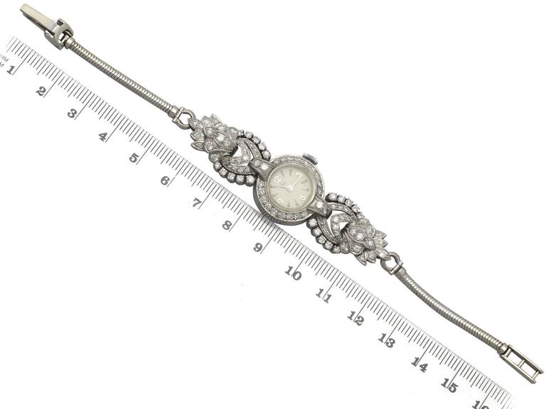 1950s and 1960s 2.92 Carat Diamond Cocktail Watch in