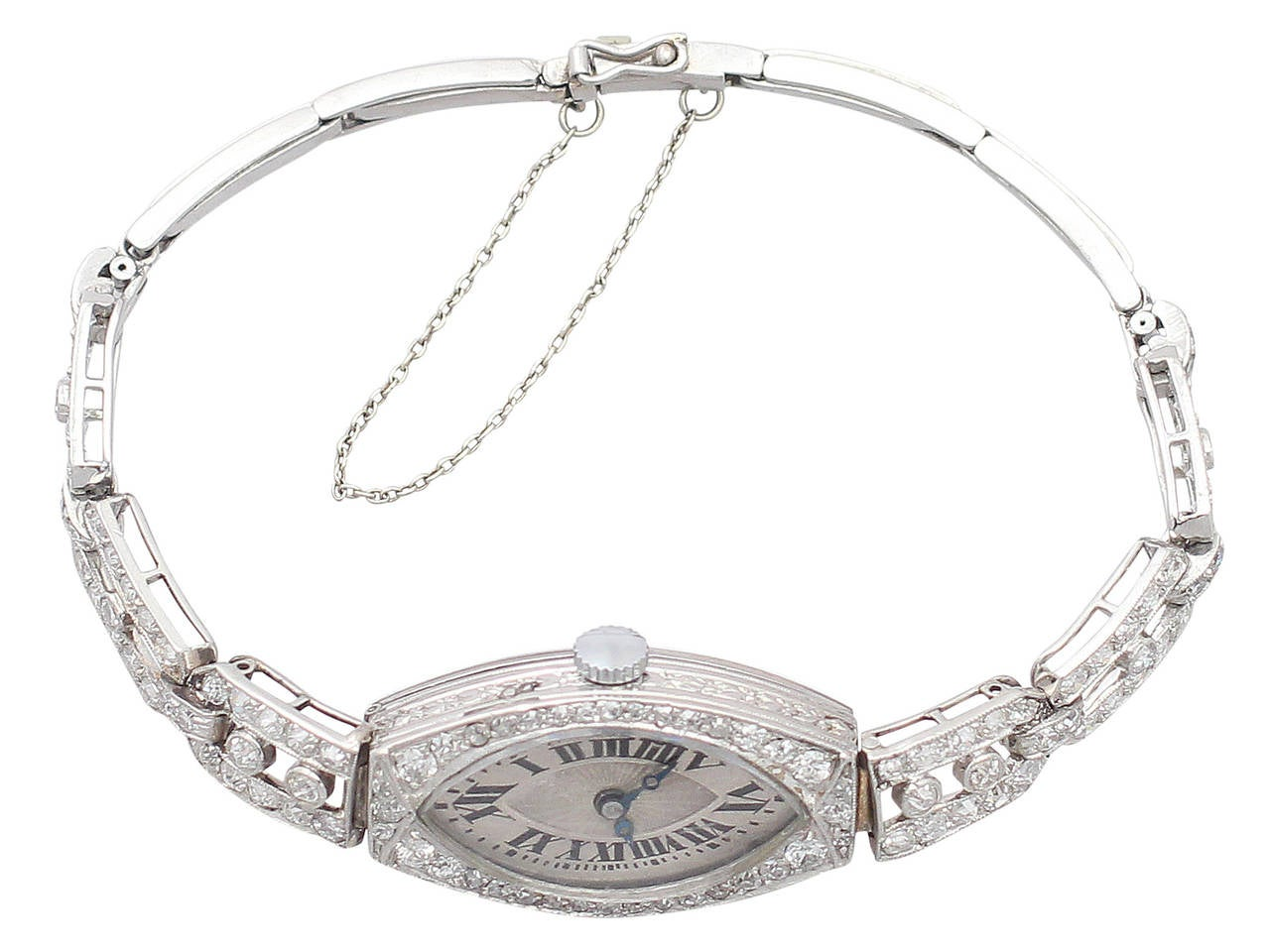 2.02Ct Diamond and Platinum Ladies Cocktail Watch