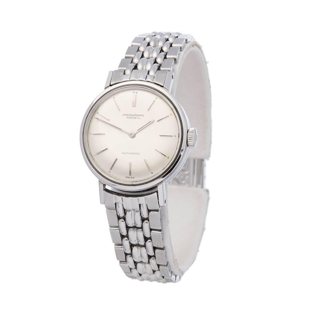 IWC Vintage Stainless Steel Ladies At 1stdibs
