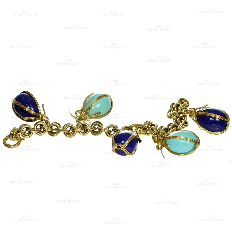 Tiffany And Co Schlumberger Turquoise Lapis Lazuli Egg