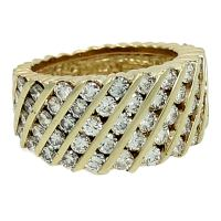 """""""Hammerman Brothers"""" Diamond Ring For Sale at 1stdibs"""