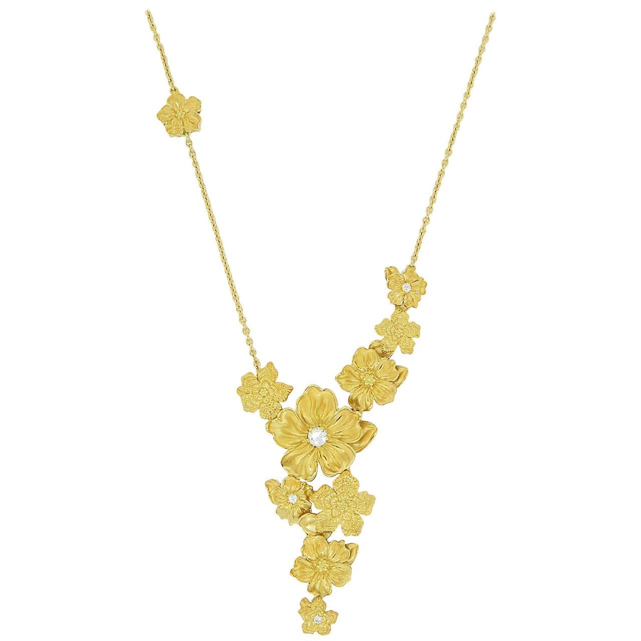 emperatriz diamond gold flower