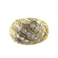 Hammerman Brothers Diamond Gold Dome Ring For Sale at 1stdibs