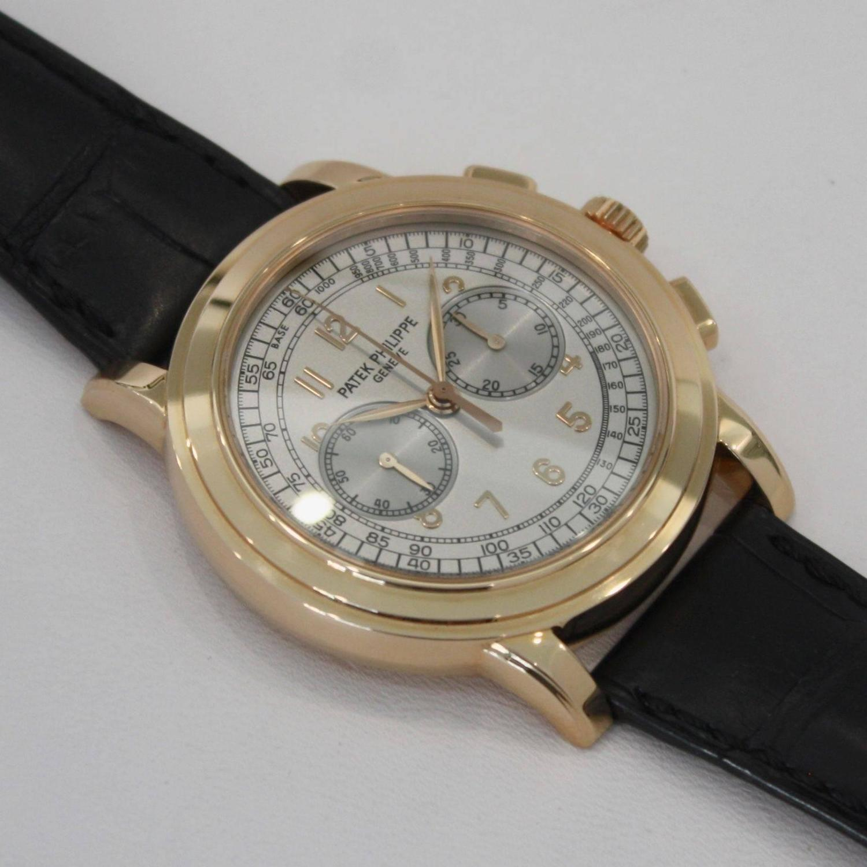 Patek Philippe Chronograph 18k Rose Gold 5070R - 5070 R-001 at 1stdibs