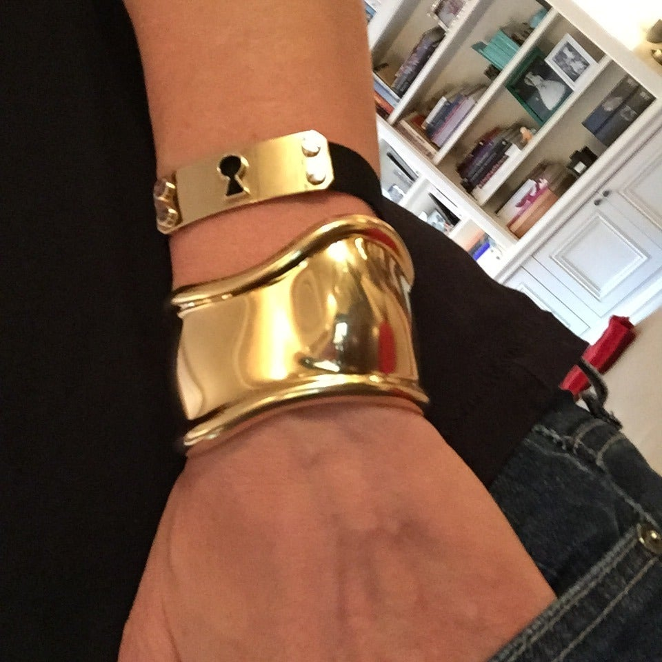 Tiffany And Co Gold BONE Cuff At 1stdibs