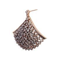 Unique Champagne Color Diamond gold Chandelier Earrings ...