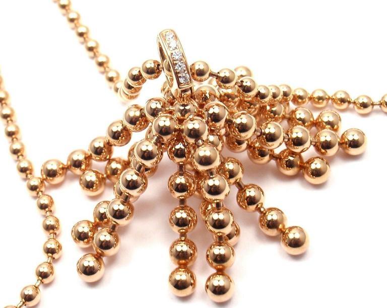 Cartier Paris Nouvelle Vague Diamond Rose Gold Pendant
