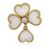 Van Cleef and Arpels Mother-of-Pearl Diamond Gold Sweet ...