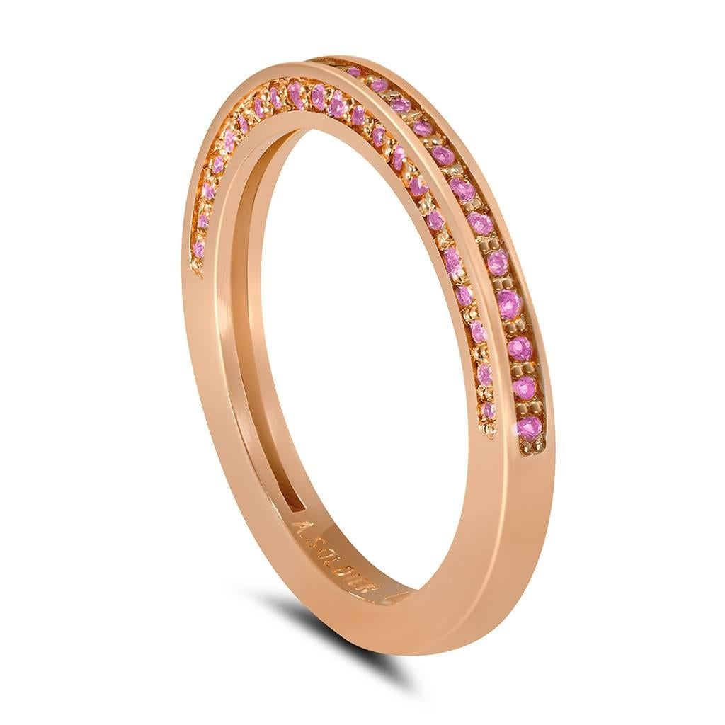 Sapphire Rose Gold Band One Of A Kind At 1stdibs
