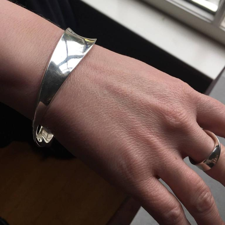 Georg Jensen Mobius Bangle Bracelet No 206 By Vivianna