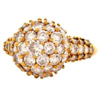 Hammerman Bros. Diamond Gold Dome Cocktail Ring For Sale ...