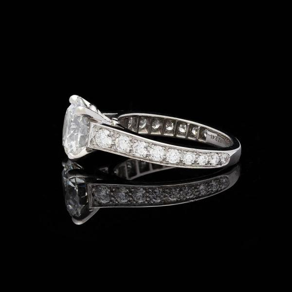 Cartier 1895 2.41 Carat Gia Cert Diamond Platinum