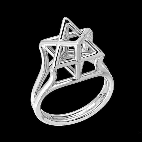 Merkaba Star Of David Platinum Ring 1stdibs