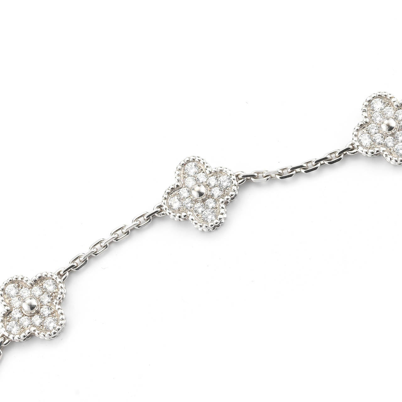 b1e61fd67 Van Cleef And Arpels Diamond Gold Alhambra Bracelet At 1stdibs