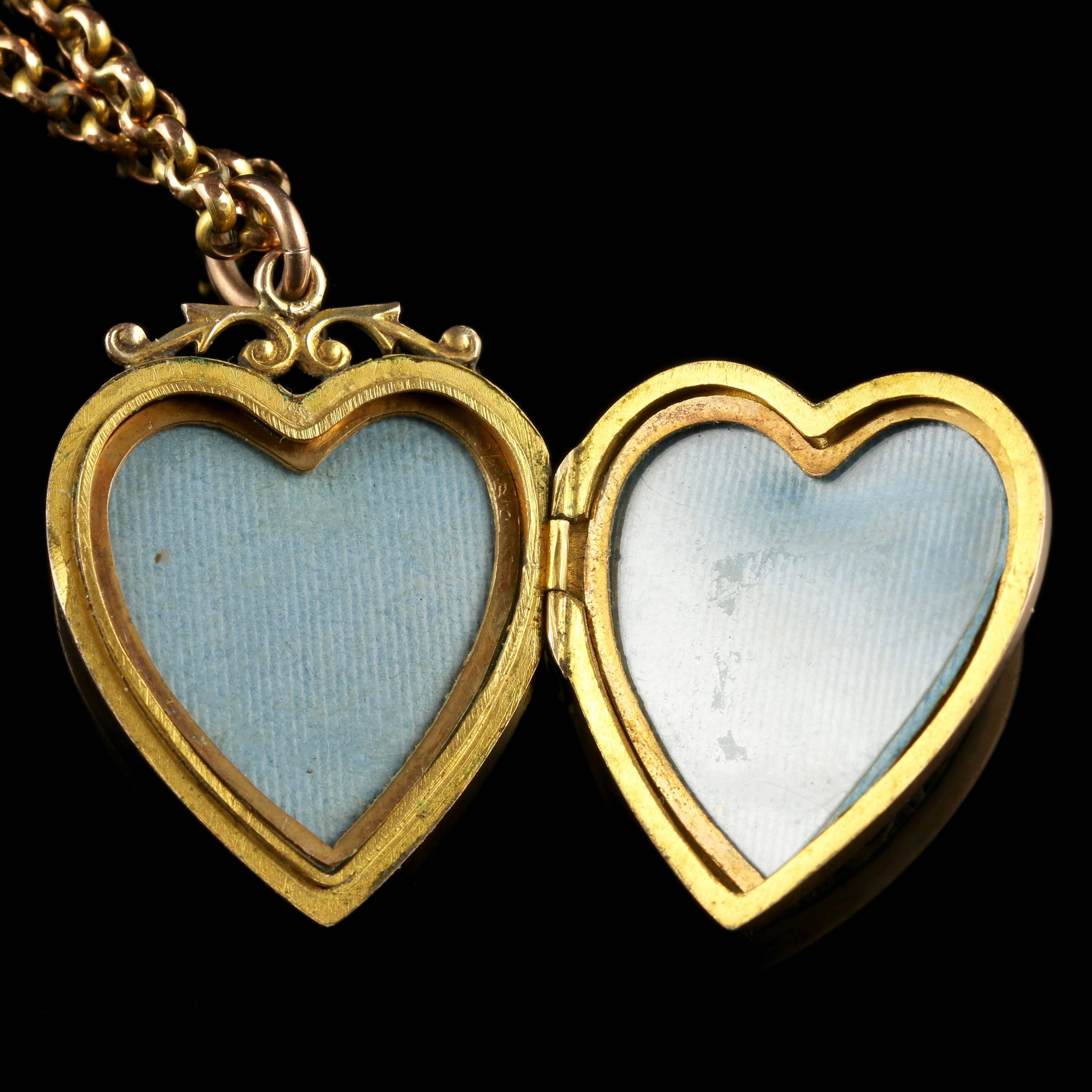 antique victorian gold heart
