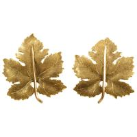 Buccellati Gold Maple Leaf Clip-On Earrings at 1stdibs