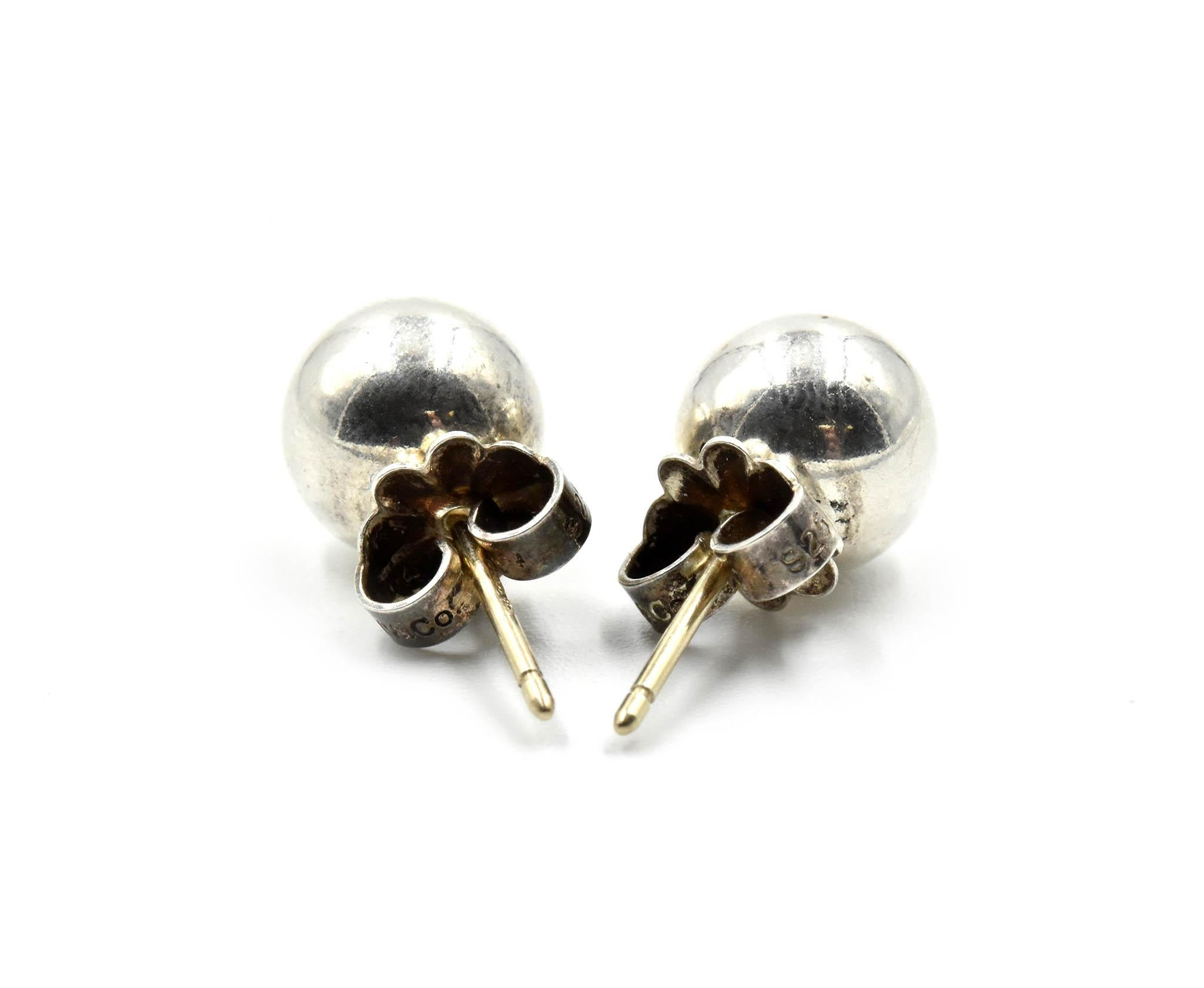 Tiffany and Co. Sterling Silver Ball Stud Earrings For