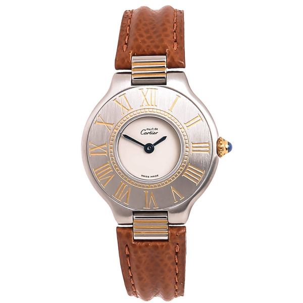 Cartier Lady' Stainless Steel And Gold De 21