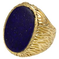 Striking Lapis Gold Large Men's Ring at 1stdibs