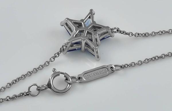 Tiffany And . Sapphire Platinum Star Necklace 1stdibs