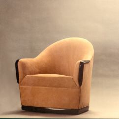 Swivel Chair In Spanish Grey Upholstered Dining Chairs Barrel By American Studio Craft Artist David