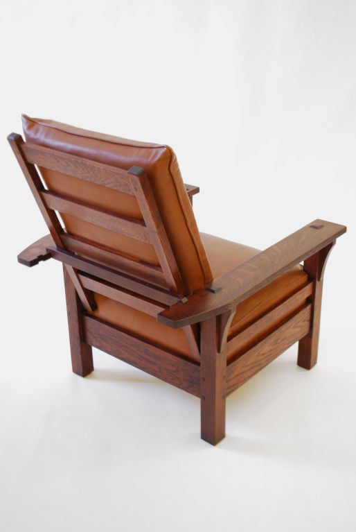 rocking chair antique styles pillow bed l and jg stickley morris chair, c. 1915, arts crafts- mission era at 1stdibs