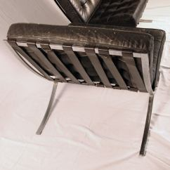 Barcelona Chair Leather Modern Chairs Cheap Pair Of Black At 1stdibs