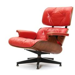 Red Club Chair Exercise Using Lounge By Charles And Ray Eames At 1stdibs