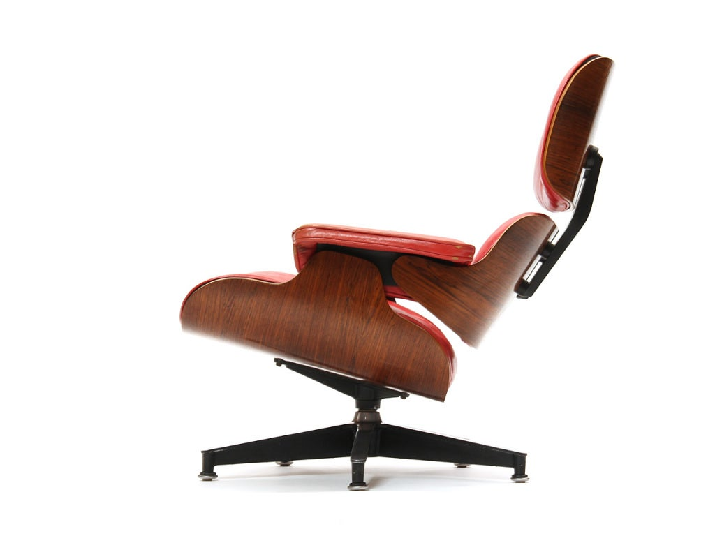 red lounge chair handicap bath by charles and ray eames at 1stdibs