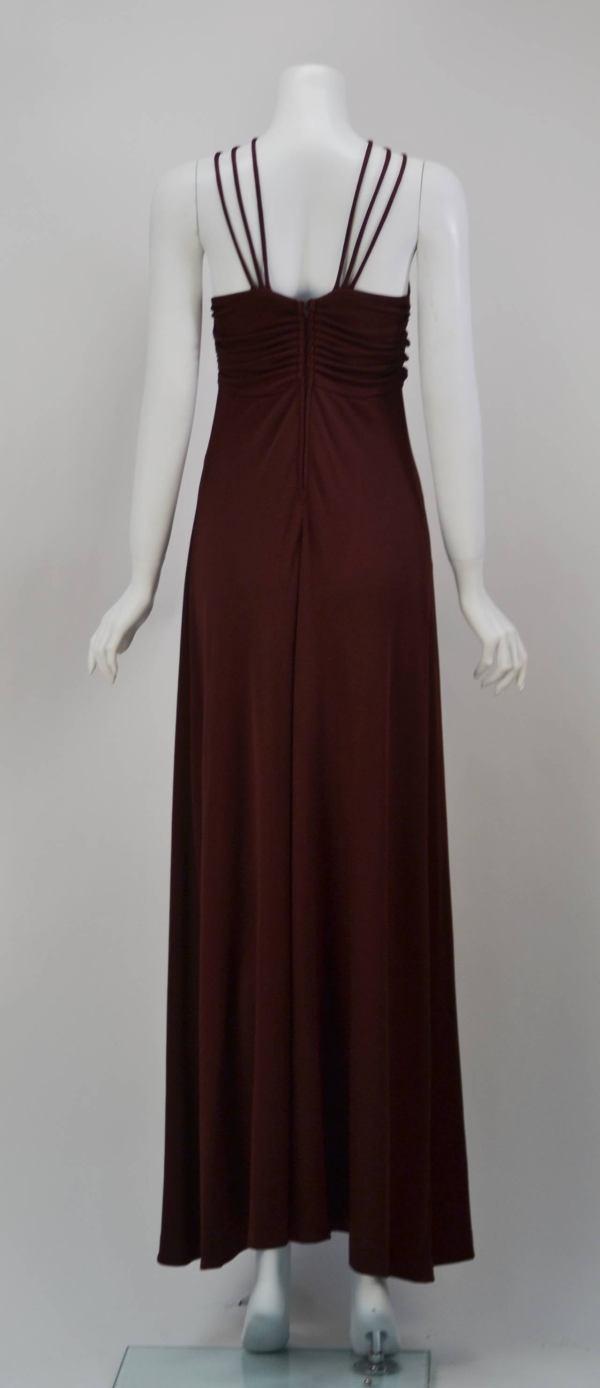 1970s Joy Stevens Criss Cross Strap Dress 1stdibs