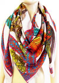 Hermes La Danse du Cheval Marwari Naturel Cashmere Silk ...