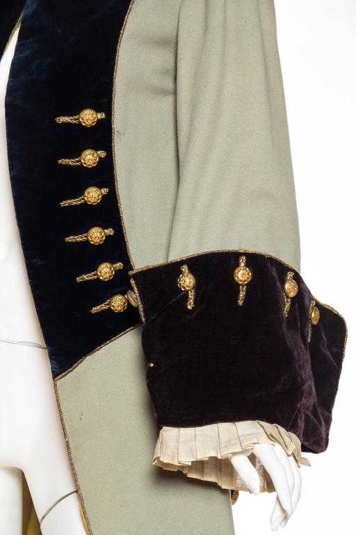 18th Century Style Victorian Era Frock Coat For Sale At