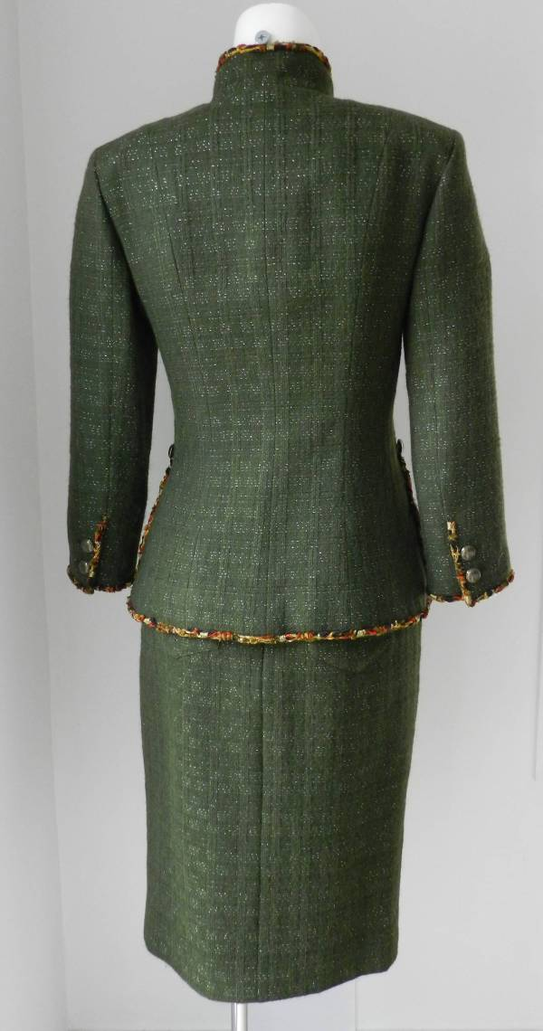 Chanel 10a Shanghai Runway Dark Green Skirt Suit 1stdibs