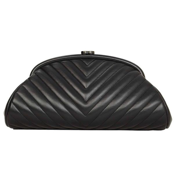 Chevron Chanel Bag Clutch