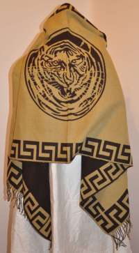 Large Wool Challis Shawl at 1stdibs