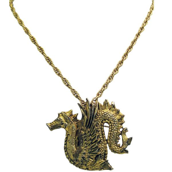 Signed Metropolitan Museum Of Art Dragon Asian Theme Pin
