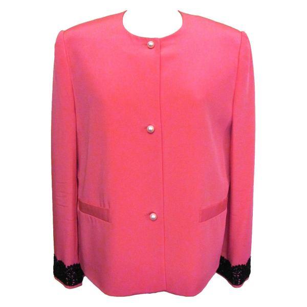 Sylvia Hind 2000 Shocking Pink Silk Cocktail Jacket And