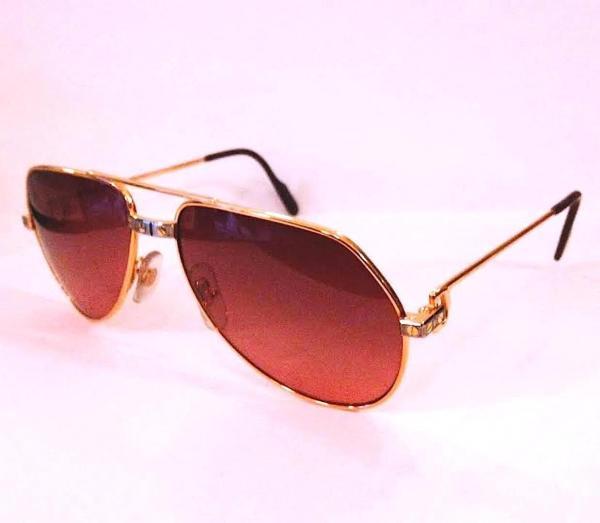 Cartier Men' Santos Aviator Sunglasses Glasses Frames