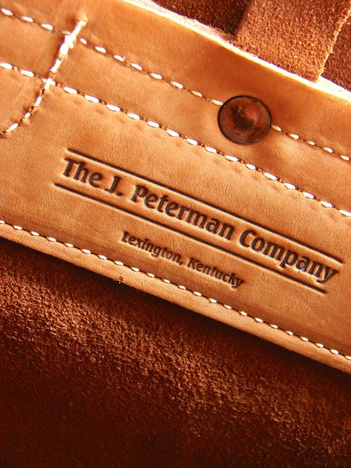 The J Peterman Company The Counterfeit Large Leather