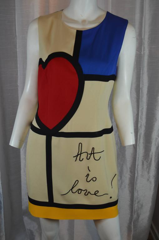 Moschino Art is Love Mondrian Dress For Sale at 1stdibs