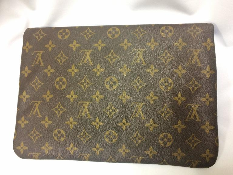 monogram leather portfolio