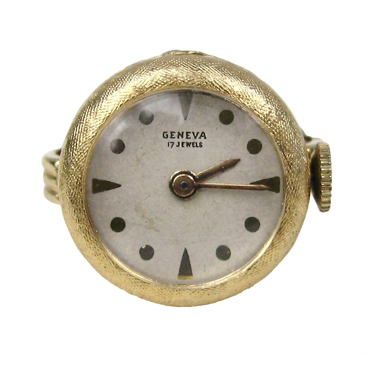 1960s 14k Gold Geneva 17 Jewel Watch Ring For Sale At 1stdibs