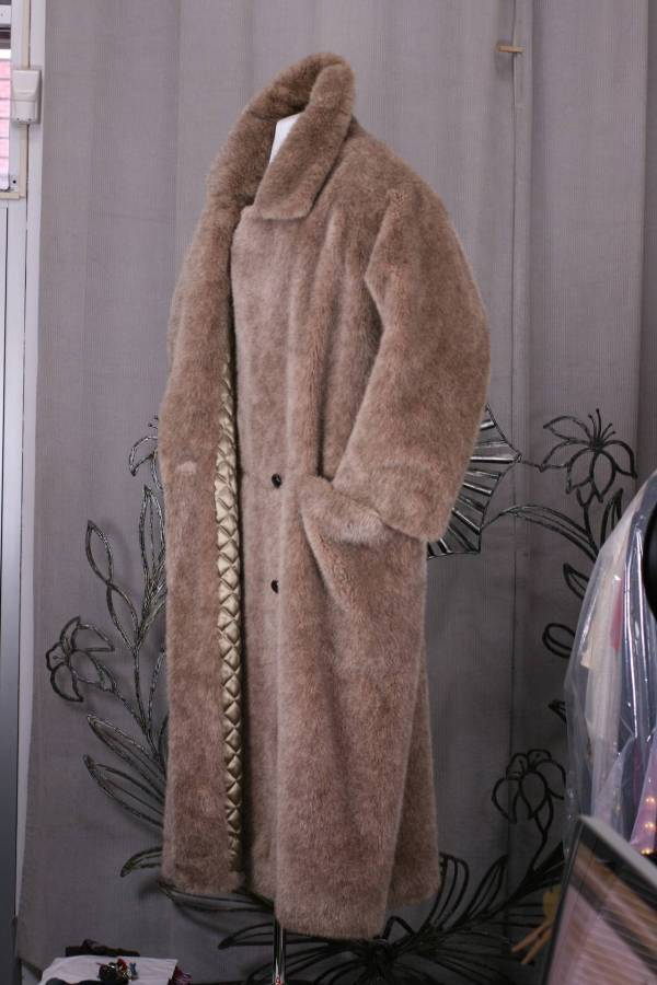 Men' Oversized Teddy Bear Reefer Anne Klein 1stdibs