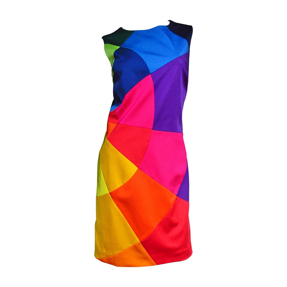 Moschino Rainbow Color Block Dress For Sale At 1stdibs