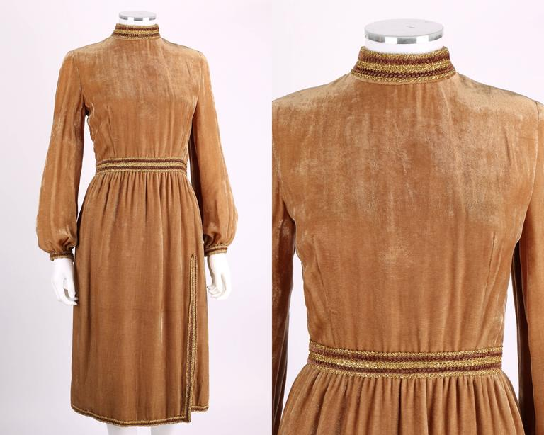 Sleeve Gown Bronze Dresses Long