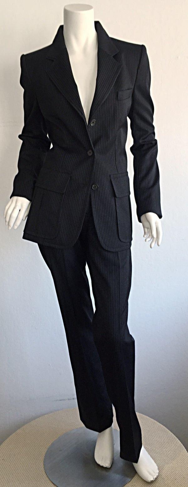 Tom Ford Black Pinstripe Suit
